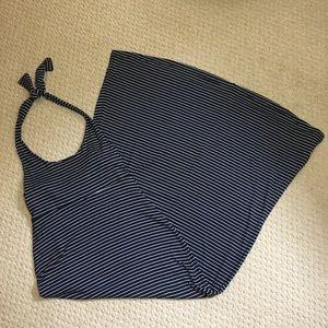 GAP Dresses - GAP Blue & White Striped Halter Maxi Dress Small